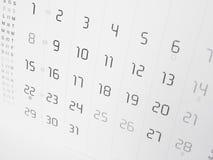 Calendar page Stock Photos