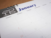 Calendar page 1 Stock Photography