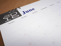 Calendar page 6 Royalty Free Stock Images