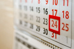 The calendar page shows today's date Royalty Free Stock Photos