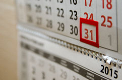 The calendar page shows today's date Royalty Free Stock Image