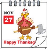 Calendar Page Turkey With Axe Stock Photography
