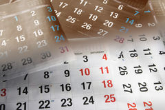 Calendar Pages Royalty Free Stock Image