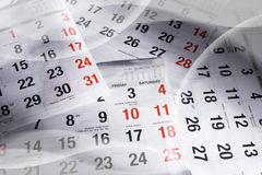 Calendar Pages Royalty Free Stock Photos