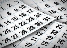 Calendar pages Royalty Free Stock Photo