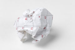 Calendar paper ball Stock Photography