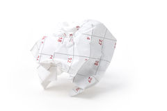 Calendar paper ball Royalty Free Stock Image