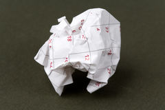 Calendar paper ball Royalty Free Stock Photography