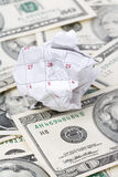 Calendar paper ball and dollar Stock Photos
