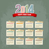 2014 Calendar paper design. Vector illustration stock illustration