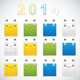 2014 Calendar. Paper design, Vector illustration Royalty Free Stock Photography