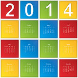 2014 Calendar. Paper design. Vector illustration Royalty Free Stock Image