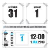 Calendar paper illustration Stock Images