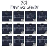 Calendar with paper notes 2011 Stock Photography
