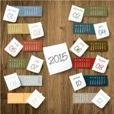 2015 calendar paper sticker Stock Photos