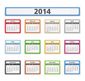 2014 Calendar. 2014 paper calendar on white background Royalty Free Stock Photos