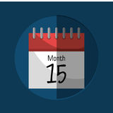 Calendar payday month. Graphic,  illustration design Stock Photos