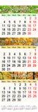 Calendar pelos meses outonais 2017 Foto de Stock