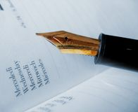 Calendar and Pen. Appointment Royalty Free Stock Photo