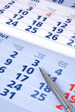 Calendar with pen Royalty Free Stock Photography