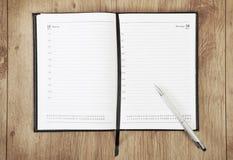Calendar with pen Stock Image
