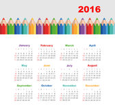Calendar 2016 with a pencil. Week Starts Sunday. Calendar for 2016 with a pencil. Week Starts Sunday. EPS 10 royalty free illustration