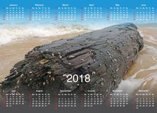 Calendar for 2018. Calendar with a photo for 2018 Stock Photography