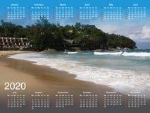 Calendar for 2020. royalty free stock photos