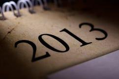 2013 calendar. The photo closeup of calendar of 2013 year Stock Photography