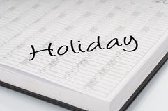 Calendar planer holiday Stock Images