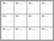 2017 Calendar Planner Design. 2017 Calendar Planner Design of illustrator royalty free illustration