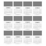 2017 Calendar Planner Design template. Easy to recolor and edit Royalty Free Stock Photography