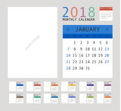 2018 Calendar Planner Design. Vector illustration Stock Image