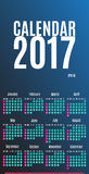 2017 Calendar Planner Design. Wall Monthly Calendar for the year. 2017. Calendar for Happy New year. All new 2017 year calendar. Colorful  calendar 2017 year Royalty Free Stock Photos