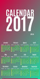 2017 Calendar Planner Design. Wall Monthly Calendar for the year. 2017. Calendar for Happy New year. All new 2017 year calendar. Colorful vector calendar 2017 Royalty Free Stock Photography