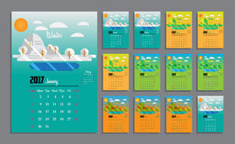 2017 Calendar Planner Design Royalty Free Stock Photography
