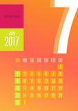 2017 Calendar. Calendar Planner Design for 2017 year Royalty Free Stock Images
