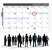 Calendar Planner Organization Management Remind Concept Stock Photography