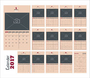 2017 Calendar Planner pages. Vector Stock Illustration