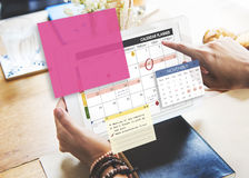 Calendar Planner Planning Organizer Note Concept Stock Photo