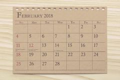 Calendar planner or 2018 schedule arrangement on wood background. Calendar planner or 2018 schedule arrangement on brown wood background Royalty Free Stock Photos