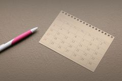 Calendar planner or schedule arrangement on vintage paper background Royalty Free Stock Image