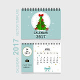 2017 Calendar planner vector design, monthly calendar template f. Or April Stock Images