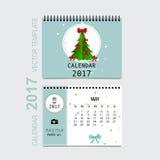 2017 Calendar planner vector design, monthly calendar template f. Or May Stock Photos
