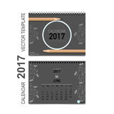 2017 Calendar planner vector design, monthly calendar template. For June Vector Illustration