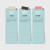 2017 Calendar planner, vector design template. 2017 Calendar planner, vector design template Stock Photos