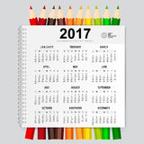 2017 Calendar planner, vector design template. Set of 12 months. Stock Image