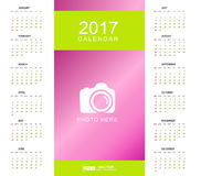 Calendar Planner for 2017 Year Stock Images