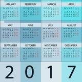 Calendar Planner 2017 Year. Stock Photo