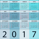 Calendar Planner 2017 Year. Stock Images